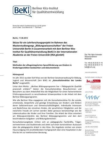 BeKi-Lehrforschungsprojekt zur Beobachtung und Dokumentation ...