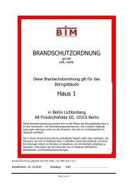 Brandschutzordnung Campus Lichtenberg Haus 1 - HWR Berlin