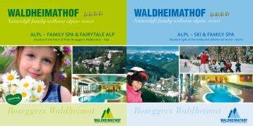 Naturidyll family-wellness Alpine resort Naturidyll ... - Waldheimathof