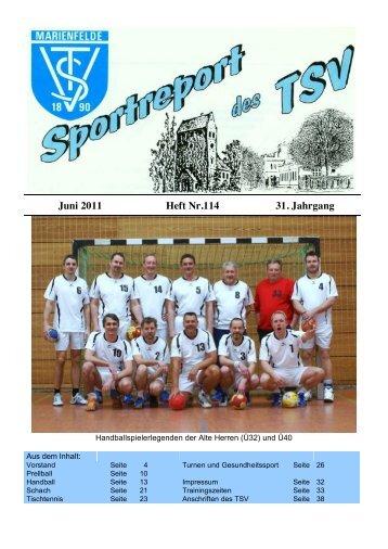 Juni 2011 Heft Nr.114 31. Jahrgang - TSV Marienfelde: Home