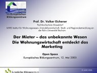 Vortrag von Prof. Dr. Volker Eichener am 12 - InWIS Forschung ...