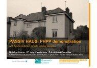 PASSIV HAUS: PHPP demonstration - The Building Centre