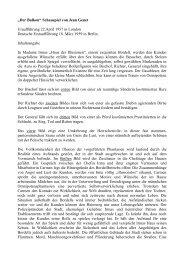 """""""Der Balkon"""" Schauspiel von Jean Genet ... - Fritz Stavenhagen"""