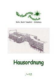 Hausordnung - Werbellinsee Grundschule