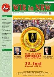 2 • 09 Integrations-Info-Magazin der Aussiedler aus der ... - VIRA e.V