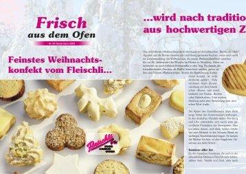 Unsere Passion - Bäckerei-Conditorei Fleischli