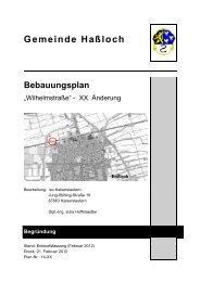 Begruendung_Bplan_Wilhelmstrasse - Gemeinde Haßloch