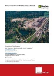 Steckbrief Grube und Werk Paradies, Schlatt/TG - Domoterra
