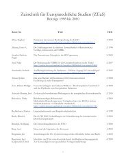 Zeitschrift für Europarechtliche Studien (ZEuS) - am Europa-Institut ...