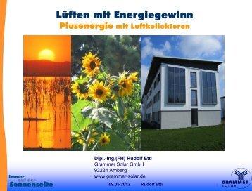 Plusenergie mit Luftkollektoren, Dipl.-Ing.(FH) Rudolf Ettl