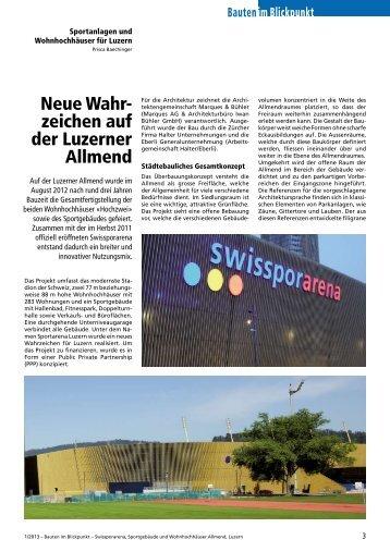 Neue Wahrzeichen auf der Luzerner Allmend - Robe Verlag