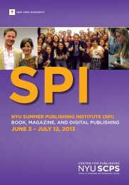 JUNE 3 – JULY 12, 2013 - NYU SCPS - New York University