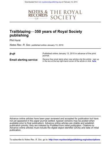 Phil Hurst*, The Royal Society, 6–9 Carlton House Terrace, London ...