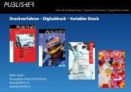 Druckverfahren – Digitaldruck – Variabler Druck - Publisher