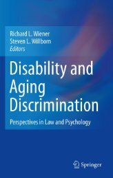 Disability and Aging Discrimination: Perspectives in Law and ...