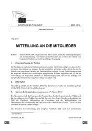 DE DE MITTEILUNG AN DIE MITGLIEDER
