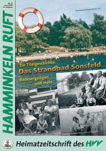 Hamminkeln Ruft, Ausgabe Nr. 51 - Juni 2009 - HVV Hamminkeln