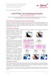 Learning Management System - e-Serve Net AG, Münchenstein