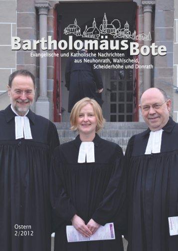 BartholomäusBote Nr. 2/2012 - Evangelischen Kirchengemeinde ...