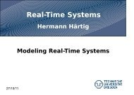 Real-Time Systems - Operating Systems Group