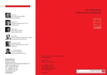 AKEP Folder 2010.pdf - Börsenverein des Deutschen Buchhandels