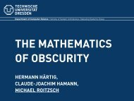 The Mathematics of Obscurity - Operating Systems Group