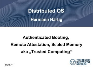 Distributed OS - Operating Systems Group