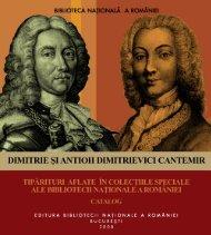 Dimitrie şi Antioh Dimitrievici Cantemir. Catalog