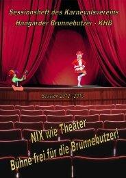 Sessionsheft 2012 / 2013 - Karnevalsverein Hangarder Brunnebutzer