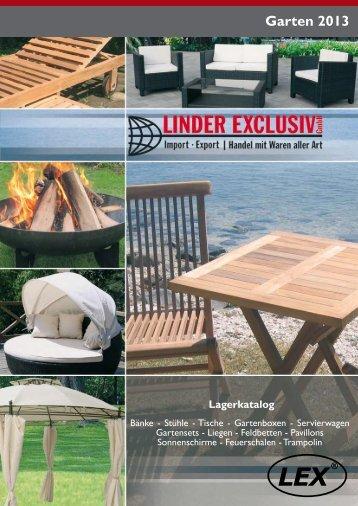 Gartenkatalog 2013 - Linder Exclusiv GmbH