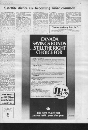 canada savings bonds .stillthe right choice for - Salt Spring Island ...