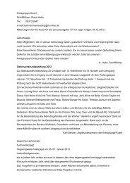 Beiträge der Kreisgruppe Kusel in der Januarausgabe 2013