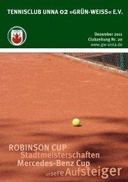 Tenniszeitung - Tennisclub Unna 02