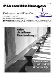 Pfarrmitteilung vom 03.07. - St. Nikolaus Büren