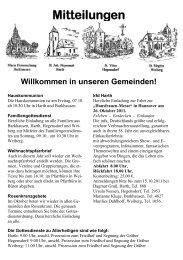 Pfarrmitteilung vom 25.09. - 09.10.2011 - St. Nikolaus Büren