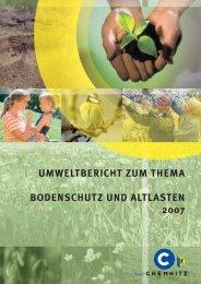 Umweltbericht zum Thema Bodenschutz und Altlasten ... - Chemnitz