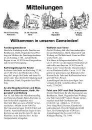 Mitteilungen - St. Nikolaus Büren