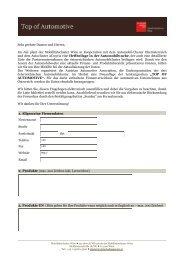 Fragebogen - Austrian Automotive Association