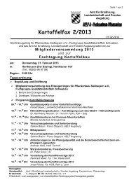 Kartoffelfax 2/2013 - Amt für Ernährung, Landwirtschaft und Forsten ...