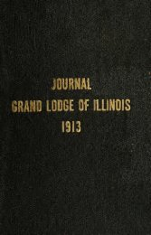 Proceedings of the Grand Lodge of Illinois - University Library