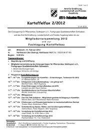 Kartoffelfax 2/2012 - Amt für Ernährung, Landwirtschaft und Forsten ...