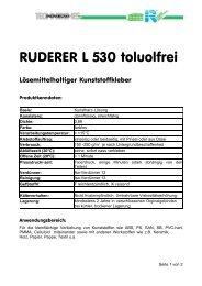 Produktinformation und Anwendungshinweise als PDF Datei - Krick