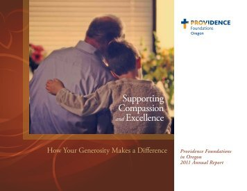 2011 Providence Foundations in Oregon Annual Report