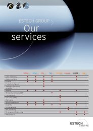 services Our - ESTECH Industries Holding AG