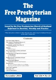 The Free Presbyterian Magazine - Free Presbyterian Church of ...