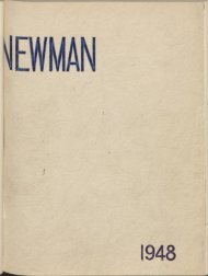 Newman : the annual magazine of the Newman College Students ...