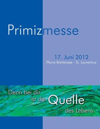 Primizmesse - Helmut Klauninger