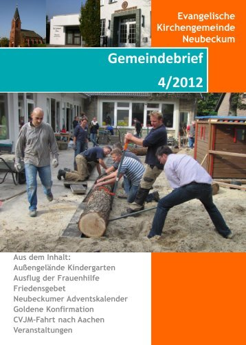 Ausgabe 2012-4 - Evangelische Kirchengemeinde Neubeckum