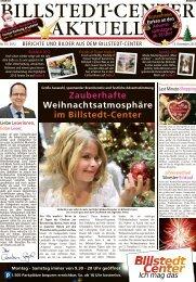 Zauberhafte Weihnachtsatmosphäre im Billstedt-Center