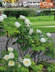 July 2011 MCC Newsletter - Missoula Country Club